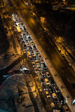 Traffic at night Stock Photo