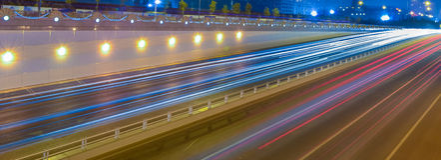 Traffic at night Royalty Free Stock Photos