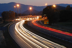 Traffic by night 3# Royalty Free Stock Image