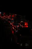 Traffic by night Royalty Free Stock Image
