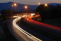 Traffic by night 4# Royalty Free Stock Photos