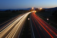 Traffic by night 6# Stock Photography