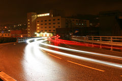 Traffic in the night Royalty Free Stock Photography