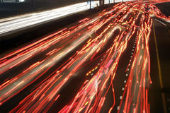 Traffic by night Stock Photography