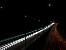 Traffic in the night Royalty Free Stock Image