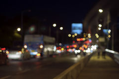 Traffic at night. Stock Photography