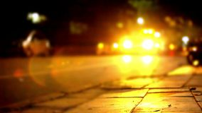 Traffic at night with blurry background and bokeh. Video shift motion 1920*1080 stock footage