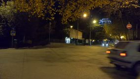 Night city traffic. The traffic at night in the city stock footage