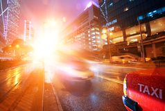 Traffic in the night city Royalty Free Stock Images