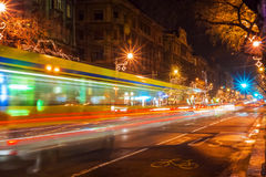 Traffic on the night city Royalty Free Stock Photos