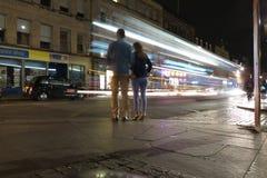 Traffic at night in the city of Edinburgh in Edinburgh Stock Image