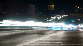 Traffic in Night City. Time Lapse 4K stock video footage