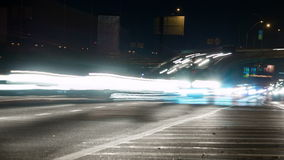 Traffic in Night City. Time Lapse stock footage
