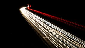 Traffic night lights, black, red, white Royalty Free Stock Photography