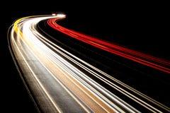 Traffic night lights,  black, red, white, yellow Royalty Free Stock Photo