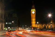 Traffic in night London. UK Stock Photo