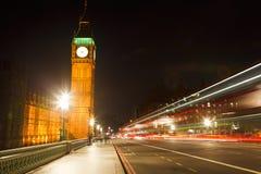 Traffic in night London. UK Royalty Free Stock Photography