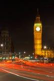 Traffic in night London. UK Royalty Free Stock Image