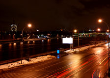 Traffic on night road Royalty Free Stock Images