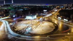 Traffic of night road, Time Lapse, Russia. Traffic of night road timelapse. 4K (UHD) Resolution 4096×2304 Video Frame Rate 29.97 Length 0:09 stock video