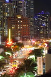 Traffic at night in Surfers Paradise Royalty Free Stock Images
