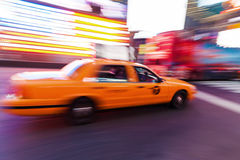 Traffic at night at Times Square, Manhattan, NYC Stock Images