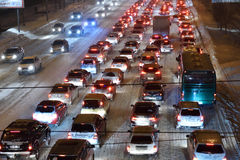 Traffic in Novosibirsk, Russia Stock Photo