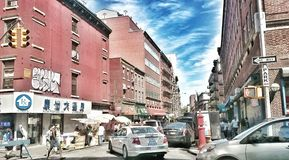 Traffic in NYC. Stuck in China Town Stock Images