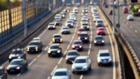 Free Traffic Of Cars On The Bridge. Defocused Foto Stock Photos - 108322443