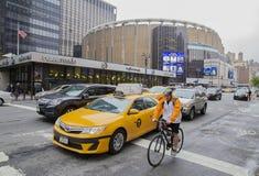 Traffic outside Madison Square Garden, New York City Royalty Free Stock Image