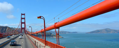 Traffic over the Golden Gate Bridge in San Francisco, CA Stock Photos