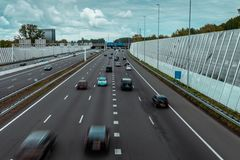 Traffic on the Highway Ring A10 Amsterdam stock photo