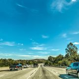Traffic on Pacific Coast Highway southbound. California, USA Royalty Free Stock Images