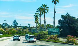Traffic on pacific coast highway southbound Royalty Free Stock Photo
