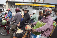 Traffic in Phnom Penh Royalty Free Stock Images