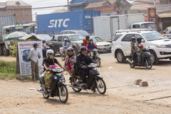 Traffic in Phnom Penh Royalty Free Stock Photography