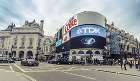 Traffic in Piccadilly Circus, London Royalty Free Stock Photo