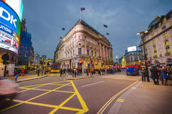 Traffic in Piccadilly Circus, London Royalty Free Stock Image