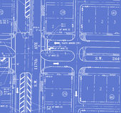 Traffic plan blueprint Royalty Free Stock Photo