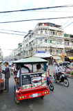 Traffic in Pnom Penh, Cambodia Royalty Free Stock Images