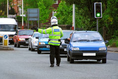 Traffic Police. A policeman directing traffic Stock Images
