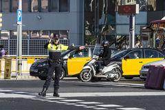 Traffic police, Barcelona Royalty Free Stock Image
