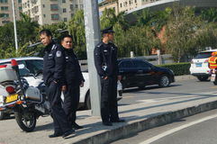 In the traffic police on duty Royalty Free Stock Photo