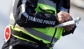 Traffic police inspections Stock Images