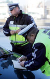 Traffic police inspections Royalty Free Stock Photos