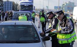 Traffic police inspections Royalty Free Stock Photography