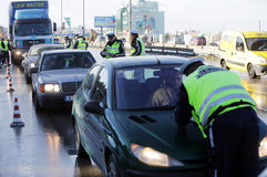 Traffic police inspections Royalty Free Stock Images