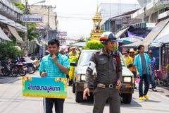 Traffic police Songkran Thailand. Stock Image