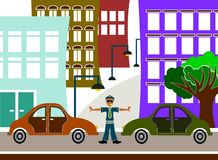 Traffic policeman Stock Photo