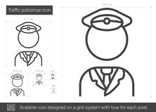 Traffic policeman line icon. Royalty Free Stock Photography
